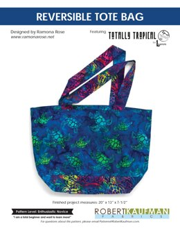 Robert Kaufman Revesible Tote Bag - Downloadable PDF