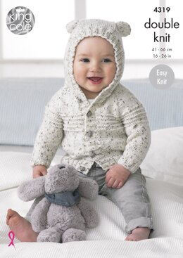 Cardigans & Hat in King Cole Smarty DK - 4319