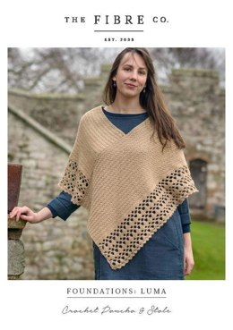 Crochet Poncho in The Fibre Co. Luma - Downloadable PDF