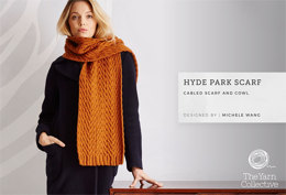 """Hyde Park Scarf and Cowl by Michele Wang"" - Scarf Knitting Pattern in The Yarn Collective"
