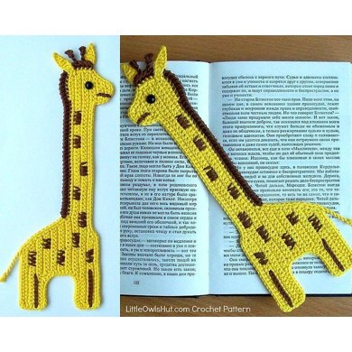 045 Giraffe Bookmark or decor - Amigurumi Zabelina