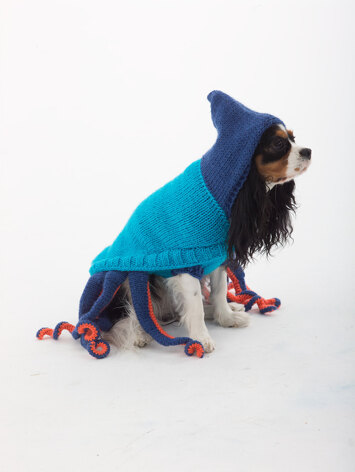 Dog Octopus Costume in Lion Brand Vanna's Choice - L30275