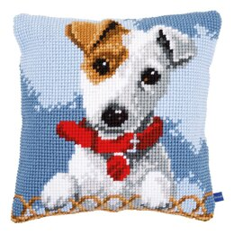 Vervaco Jack Russell Cross Stitch Cushion Kit