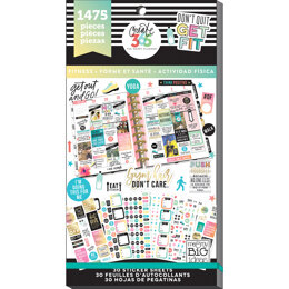 Me & My Big Ideas Happy Planner Sticker Value Pack - Work It Out - Classic, 1475/Pkg