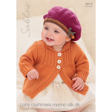 Vintage Smock Coat and Little Ruby Beret in Sublime Baby Cashmere Merino Silk DK - 6014
