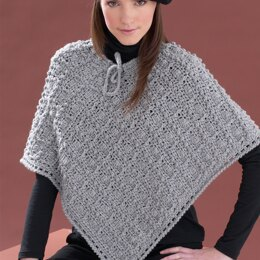Perfect Patterned Poncho in Bernat Super Value