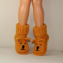 Childrens Teddy Bear Slipper Boots