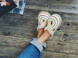Women Twisted Slippers with Rope Soles