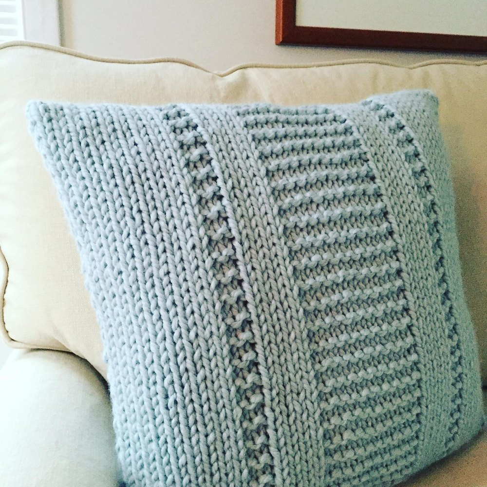 The Parkway Pillow Knitting Pattern By Fifty Four Ten Studio
