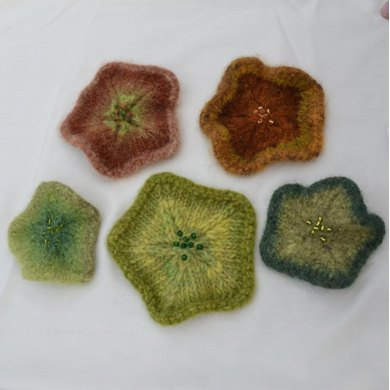 Felted Star Ornaments