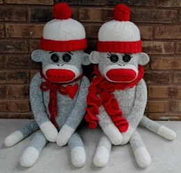 Sock Monkey Pillow