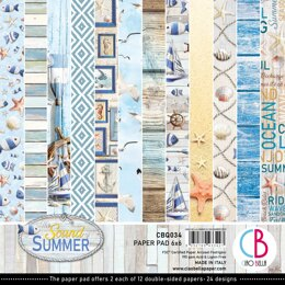 "Ciao Bella Double-Sided Paper Pack 90lb 6""X6"" 24/Pkg - Sound Of Summer, 12 Designs/2 Each"