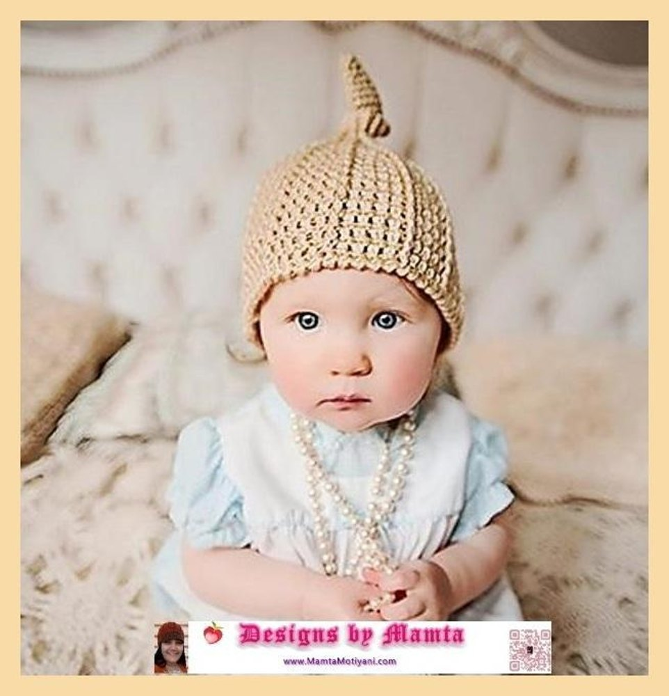 Crochet Top Knot Beanie Pattern For Newborn Babies Adults Women ... 308bda91082
