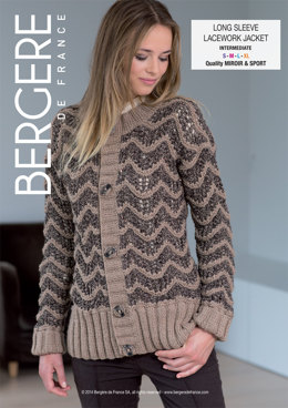 Long Sleeve Lacework Jacket in Bergere de France Sport