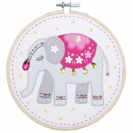 Vervaco Embroidery Kit with Ring - Elephant
