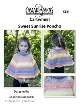Sweet Sunrise Poncho in Cascade Yarns Cartwheel - C324 - Downloadable PDF