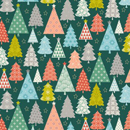 Makower Christmas Special - Merry Trees