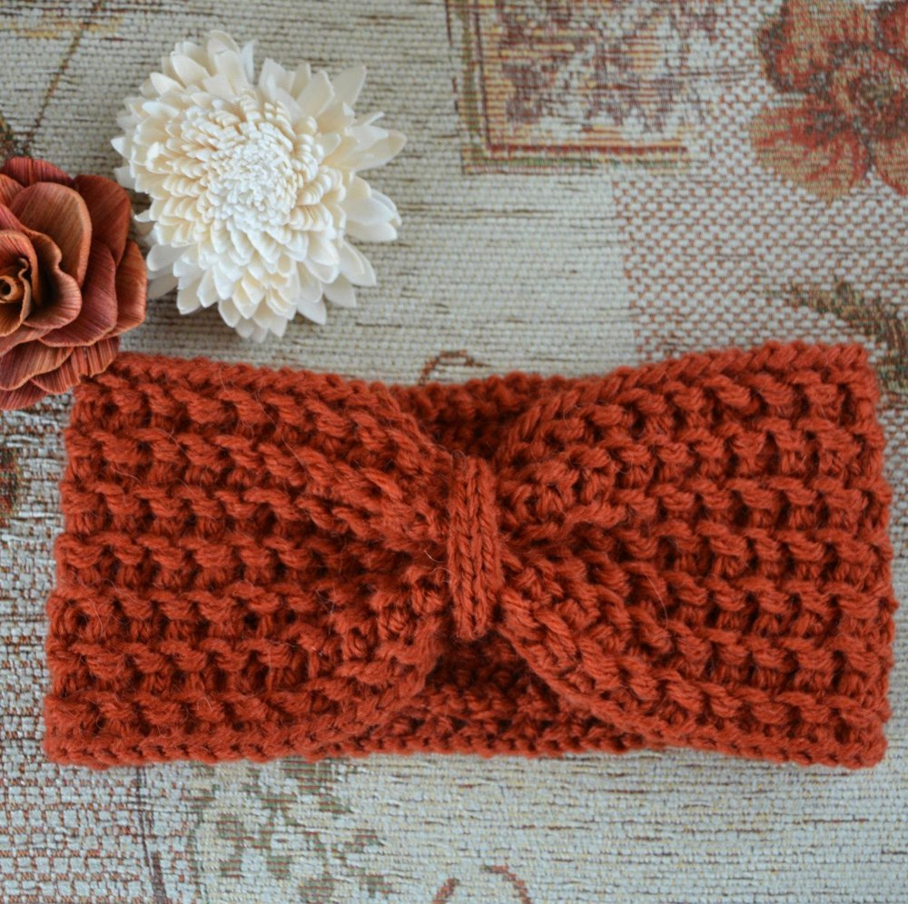 Womens Knitted Textured Turban Headband Earwarmer KPWH02 Knitting ...