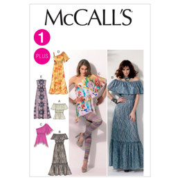 McCall's Misses'/Women's Tops and Dresses M6558 - Sewing Pattern