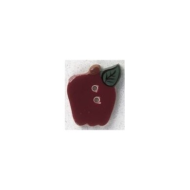 Mill Hill Button 86352 - Burgundy Small Apple