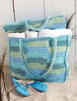 Beach Bag & Mat in Lily Sugar 'n Cream Stripes