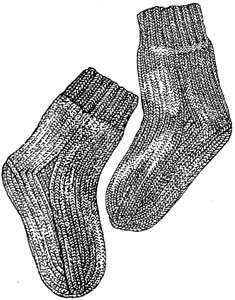 Joan's Socks in Lion Brand Wool-Ease