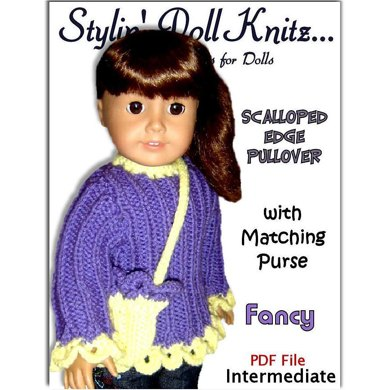 Fits American Girl Doll, Scalloped Trim 006