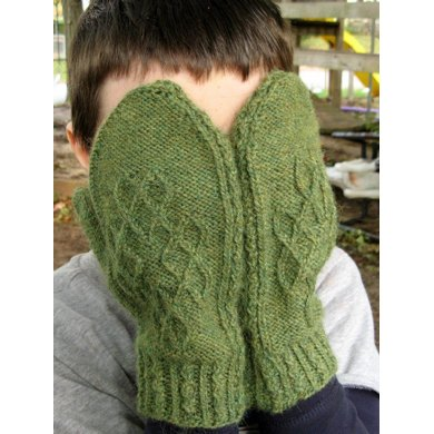 Daisy Ruth Cabled Mittens