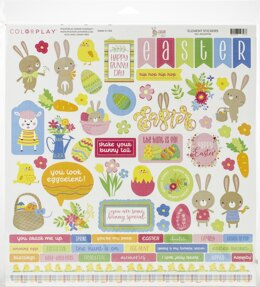 "Photoplay Paper ColorPlay Collection Pack 12""X12"" - Easter Wishes"