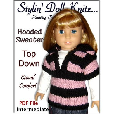 Knitting Pattern for Dolls. Fits American Girl and 18 inch, (Gotz, Maplelea) 037