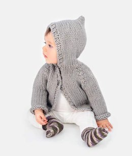 Honey Bear Hoodie & Sweetie Socks in Spud & Chloe - 92221