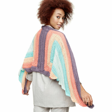 Spread Your Wings Shawl in Caron x Pantone  - Downloadable PDF