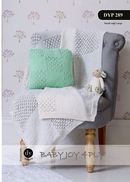 Cushions and Blanket in DY Choice Baby Joy 4 ply - Downloadable PDF