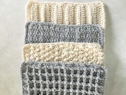 Stitch Sampler Washcloth Collection