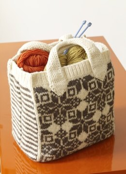 Felted Snowflake Tote in Lion Brand Fishermen's Wool - 80303AD