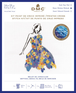 DMC Daffodil Dance (includes Étoile) Cross Stitch Kit - 25cm x 35cm - BK1792