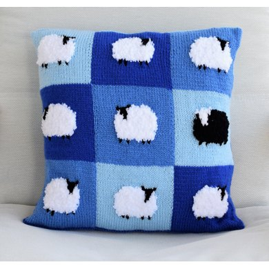 Patchwork Flock of Sheep Cushion