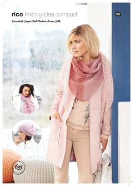 Hat, Shawl and Scarf in Rico Essentials Super Kid Mohair Loves Silk - 635 - Leaflet