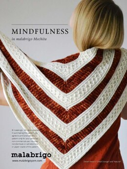 Mindfullness Shawl in Malabrigo Mechita - Downloadable PDF
