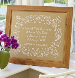 Historical Sampler Company I Loved You Yesterday Sampler Cross Stitch Kit