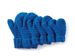 Hands Full Crochet Mittens in Caron One Pound - Downloadable PDF