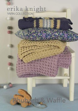 Rhubarb & Waffle Blanket in Erika Knight Gossypium Cotton - UK