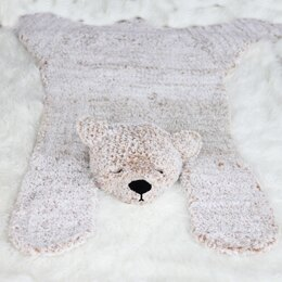 Hibernation Bear Blanket Rug