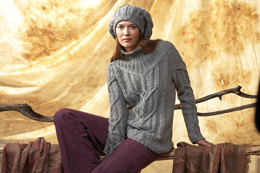 Damenpullover und Mütze in Schachenmayr Merino Extrafine 85 - 6171 - Downloadable PDF