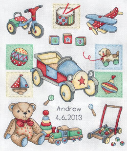 Anchor Boy Birth Cross Stitch Kit