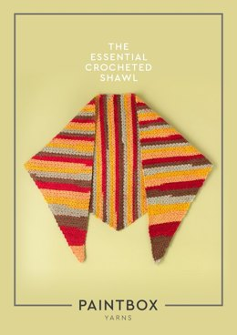 The Essential Crocheted Shawl in Paintbox Yarns Chunky Pots - Downloadable PDF