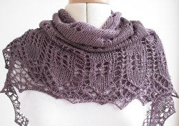 Mulberry haze shawl