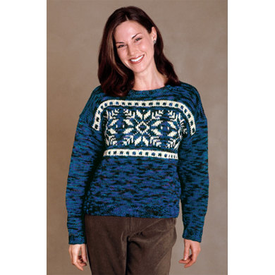 Snowflake Pullover in Lion Brand Fishermen's Wool - 1178A