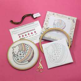 Hawthorn Handmade Cat Contemporary Embroidery Kit