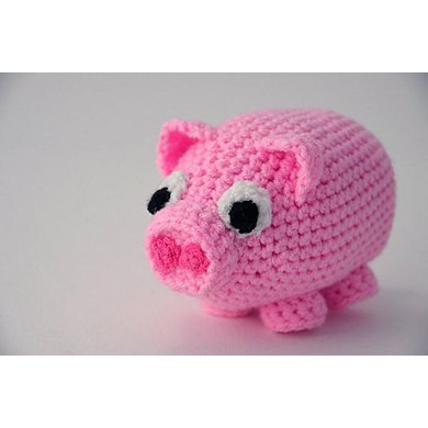 Piglet Little Baby Pig Amigurumi Crochet Pattern No57 Crochet